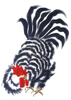 """Good Luck"" Roosters—Original Paintings: Make the sun shine every morning! Rooster Painting, Rooster Art, 2017 Rooster, Rooster Decor, Red Rooster, Chicken Painting, Chicken Art, Chickens And Roosters, Pet Chickens"