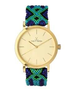 Maya Yellow Golden Watch with Crochet Band