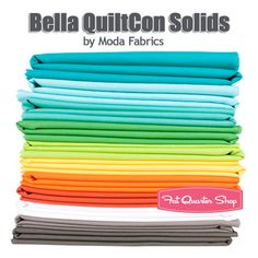Bella QuiltCon Solids Fat Quarter Bundle Moda Fabrics #FQSgiftguide #familyandfriends