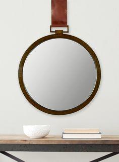 A chic round mirror