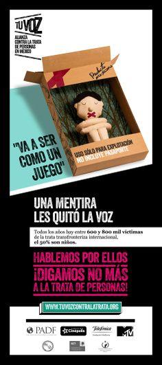 campaña en contra de la trata de personas en méxico