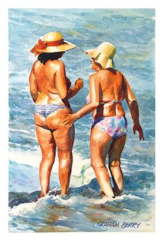 """You would tell me? by Graham Berry Watercolor ~ 19"""" x 12"""" http://www.pinterest.com/cde8934/art-coastal/"""