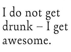 not drunk