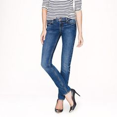 These skinny jeans from J. Crew are perfect. Skinny enough to fit into boots- but not skin tight