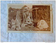 "How #Eritrea #Tigrinya traditional Cloth started with #Cotton and #Wood ""CPA - ERYTHREE - AOI AFRICA ITALIANA -  RUDIMENTALE TELAIO ABISSIONO"""