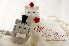 cats wedding cake toppers