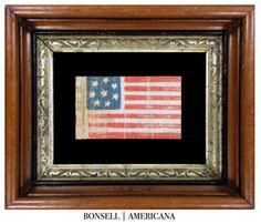Scarce 8 Star Antique US Flag
