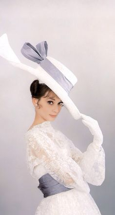 Audrey Hepburn modeling the many fashions of My Fair Lady by designer Cecil Beaton, 1963.