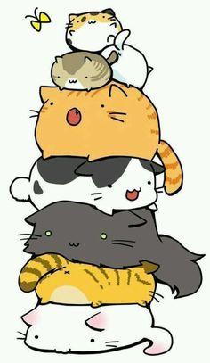 动物 萌物 插画 壁纸 猫