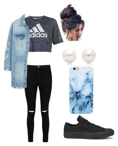 """Untitled #53"" by lizinthesaddle on Polyvore featuring Boohoo, adidas, LE3NO, Converse and Tiffany & Co."