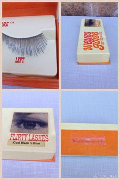 Vintage 1960s W'Eyes Guise Flirty Lashes in by diggerodellvintage
