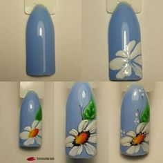 spring nail art which look stunning Floral Nail Art, Nail Art Diy, Easy Nail Art, Cool Nail Art, Fancy Nails, Cute Nails, Pretty Nails, Tulip Nails, Flower Nails