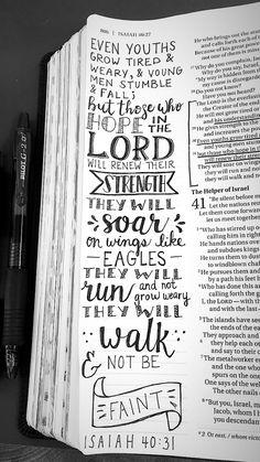 ISAIAH 40:31 - Bible Journaling