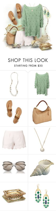 """Casual Dinner on the Mediterranean"" by debi820 ❤ liked on Polyvore featuring LOFT, Tory Burch, Michael Kors, Little White Lies, Banana Republic, Tod's, Amrita Singh and David Aubrey"