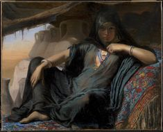 An Egyptian Pot Seller at Gizeh by Elisabeth Jerichau Baumann via DailyArt mobile app