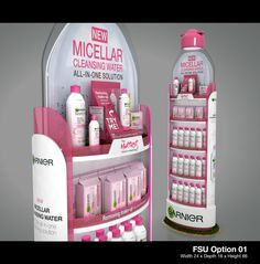 Micellar Bottle FSU on Behance Pos Design, Stand Design, Retail Design, Exhibition Booth Design, Exhibition Stands, Exhibit Design, Pos Display, Display Design, Street Marketing