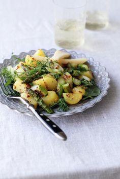 Sinappinen parsa-perunasalaatti
