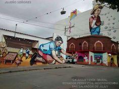 Quedo terminada la Juguetería, el mural más grande del país y queda en San Salvador de Jujuy
