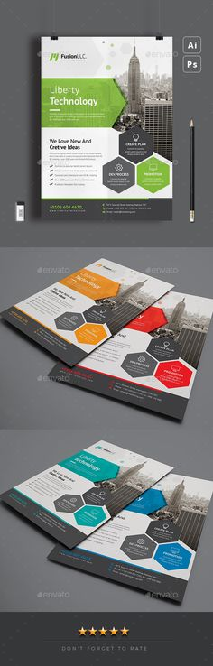 Corporate Flyer by CreativeCursor Business Flyer Templates, Flyer Design Templates, Scientific Poster Design, Design Corporativo, Internet Logo, Graphic Design Brochure, Business Poster, Cool Business Cards, Corporate Flyer