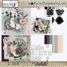 Weddings celebrate the most special event in the beginning of a couple';s life. The palette for our I Do Collection is a mix of subtle aqua & taupe shades with a spot of burgundy, perfect for wedding images in any season and time. This petite collection is all ready for