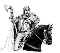 """""""Fulke Mounted"""", pen and ink, Richard Luschek Fantasy Portraits, Character Portraits, Fantasy Artwork, Advanced Dungeons And Dragons, Armor Concept, Fantasy Illustration, Paladin, Old World, Knight"""