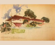 Though Neutra's associates contributed to his designs, the basic concept as well as the elegant presentation drawings clearly bore the architect's signature, as in this unbuilt Malibu beach house from the Architectural Digest Richard Neutra, Ancient Chinese Architecture, Historical Architecture, Architecture Diagrams, Modern Architecture House, Futuristic Architecture, Architecture Portfolio, Modern Houses, Residential Architecture