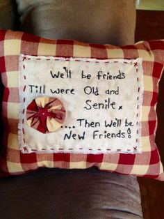 Primitive pillow I made for up coming craft show. Primitive Embroidery, Primitive Stitchery, Primitive Patterns, Primitive Crafts, Country Primitive, Primitive Christmas, Vintage Embroidery, Country Christmas, Primitive Snowmen