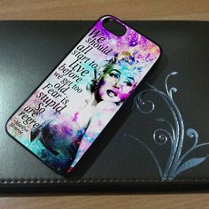 MARILYN MONROE quote Custom case for iPhone 4 case, iPhone 5 case, Samsung galaxy s3 and samsung galaxy s4 case on Etsy, $14.80