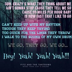 Fitz and the Tantrums - The Walker,  This is my personal theme song