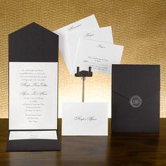 Basic Black & White Invitation