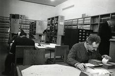 Walter Benjamin à la Bibliothèque nationale, Paris, 1937. ph Gisèle Freund