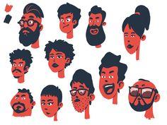 Moar Limited Palette Character Face Exploration by Cihan Gelerli