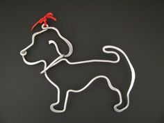 Really cute hand forged aluminum ornament by Lisa Bruns--speaks to me as our little doggie is a low rider! $19