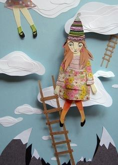 pretty cut paper art