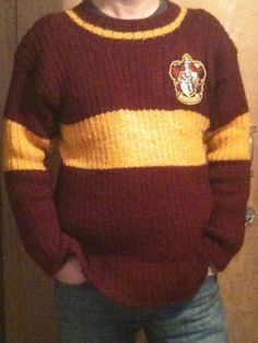 This Harry Potter Replica Quidditch Sweater pattern and tutorial was created by Film/Television producer and avid knitter Greg Steiner to recreate the look of the original design created by Judianna Makovsky for Harry Potter and the Philosopher's Stone (Harry Potter and the Sorcerer's Stone in the US).