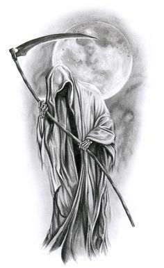 Moon-N-Death-Tattoo-Design-Ideas-Drawing