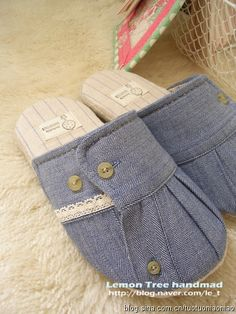 How to make slippers from old shirt sleeves!!