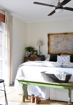 Charming Farmhouse Chic Bedroom This Has Been Done On A Budget With Lots Of