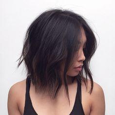 Modern Length Haircolor @mizzchoi Haircut/Style @salsalhair  #hairbysal #hair #haircut #hairstyle #haircolor #hairspiration #shorthair #longhair #lob #texturedbob #messyhair #sexyhair #effortlesshair #sexhair #bedhead #beautifulhair #coolhair #asianhair #hairfashion #hairtrends #style #ramireztransalon #LA