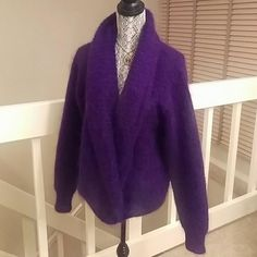 Very vintage Big & cozy oversized mohair cardigan 63% mohair and 37% acrylic. Bloomingdales Sweaters Cardigans