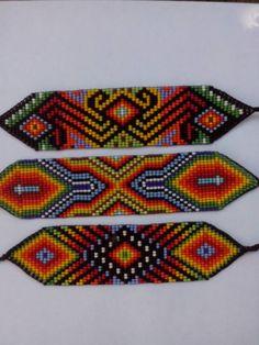 Native Beading Patterns, Seed Bead Patterns, Beaded Bracelet Patterns, Bead Loom Designs, Peyote Stitch Patterns, Beads Pictures, Native American Beadwork, Seed Bead Bracelets, Bead Jewellery