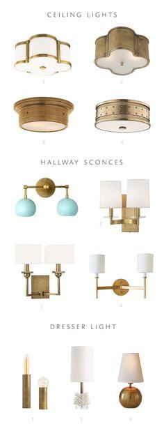 lighting options for my one room challenge makeover! Hall Lighting, Closet Lighting, Bedroom Lighting, Chandelier Lighting, Lighting Design, Maurer, Farmhouse Lighting, Exterior Lighting, Vintage Lighting