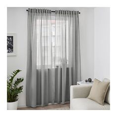 HILJA Curtains, 1 pair, gray gray 57x98 ½