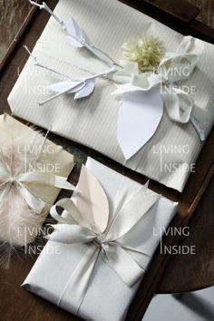 pretty white packages