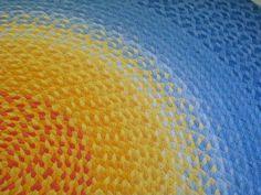 alfombra con trenza de trapillo