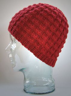 Christian's Hat was designed to match Christian's Scarf. The stitch pattern is easy to work and really stretchy - ensuring a perfect fit.