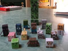 This is an awesome site for getting mine craft paper crafting templates! I know a little boy who will love this.