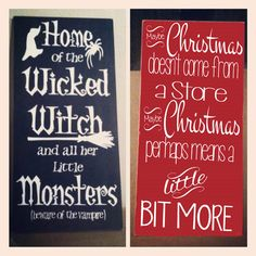 Halloween AND Christmas Tall Sign Vinyl por saywithdesign en Etsy