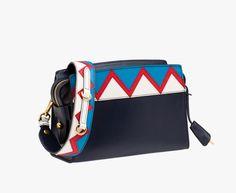 Prada Woman - Prada esplanade bag - Baltico+rosso - 1BH049_2EEN_F0S4B_V_OUO