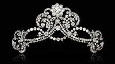 a diamond tiara given by Emperor Franz Joseph to his great-niece Marie Anna of Austria, Parma, Wallis Simpson, Royal Jewels, Royal Tiaras, Diamond Tiara, Chinese Ceramics, European History, Latest Jewellery, Harry Winston